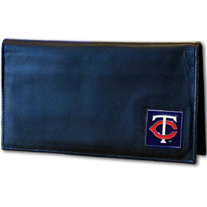 Minnesota Twins Leather Checkbook Cover (F)