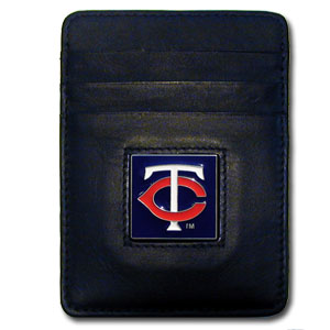 Minnesota Twins Leather Money Clip (F)