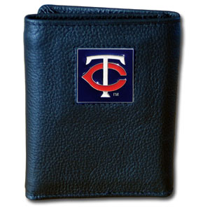 Minnesota Twins Leather Trifold Wallet (F)