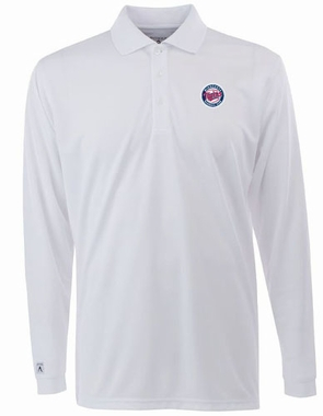 Minnesota Twins Mens Long Sleeve Polo Shirt (Color: White)