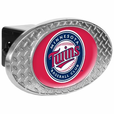 Minnesota Twins Metal Diamond Plate Trailer Hitch Cover