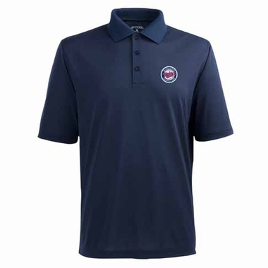 Minnesota Twins Mens Pique Xtra Lite Polo Shirt (Color: Navy)