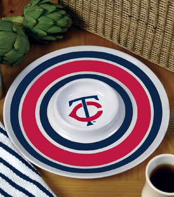 Minnesota Twins Plastic Chip and Dip Plate