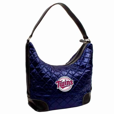 Minnesota Twins Quilted Hobo Purse