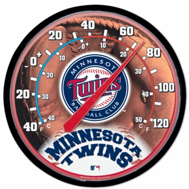 Minnesota Twins Round Wall Thermometer