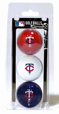 Minnesota Twins Set of 3 Multicolor Golf Balls