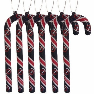 Minnesota Twins Set of 6 Candy Cane Ornaments