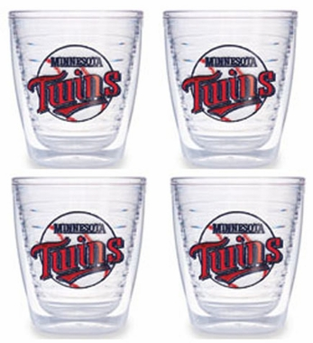 Minnesota Twins Set of FOUR 12 oz. Tervis Tumblers
