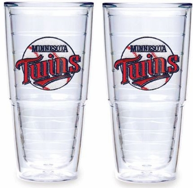 "Minnesota Twins Set of TWO 24 oz. ""Big T"" Tervis Tumblers"
