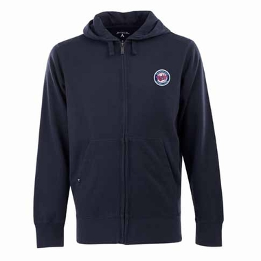 Minnesota Twins Mens Signature Full Zip Hooded Sweatshirt (Alternate Color: Navy)