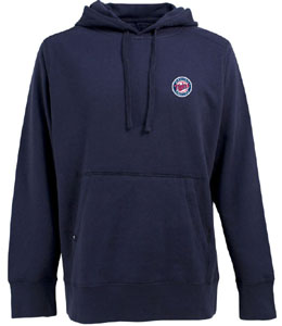 Minnesota Twins Mens Signature Hooded Sweatshirt (Alternate Color: Navy) - Medium