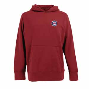 Minnesota Twins Mens Signature Hooded Sweatshirt (TeamColor: Red) - Small