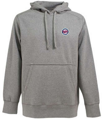 Minnesota Twins Mens Signature Hooded Sweatshirt (Color: Gray)