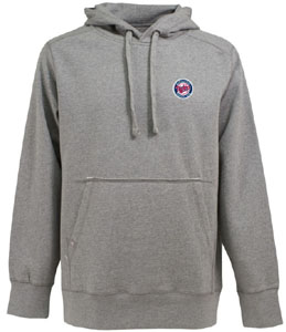Minnesota Twins Mens Signature Hooded Sweatshirt (Color: Gray) - Small