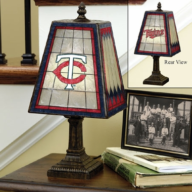 Minnesota Twins Small Art Glass Lamp