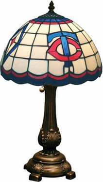 Minnesota Twins Stained Glass Table Lamp