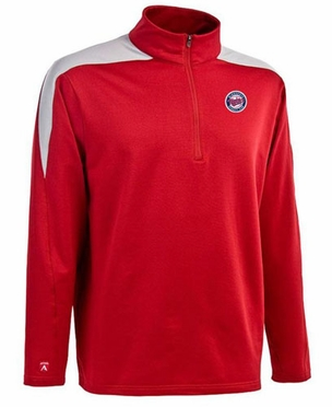 Minnesota Twins Mens Succeed 1/4 Zip Performance Pullover (Team Color: Red) - X-Large