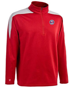 Minnesota Twins Mens Succeed 1/4 Zip Performance Pullover (Team Color: Red) - XX-Large