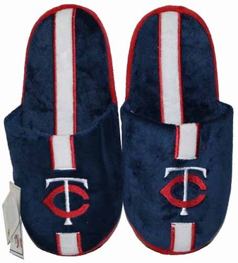 Minnesota Twins Team Stripe Slide Slippers