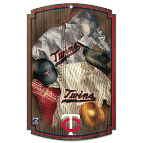 Minnesota Twins Throwback Wood Sign