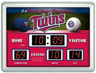 Minnesota Twins Time / Date / Temp. Scoreboard