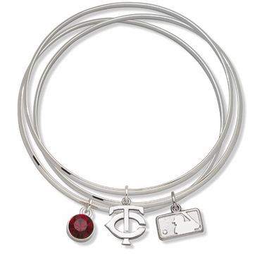 Minnesota Twins Triple Bangle Bracelet