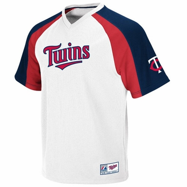 Minnesota Twins V-Neck Crusader Jersey (White)