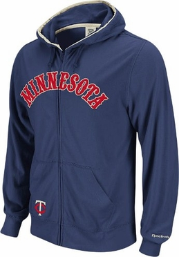 Minnesota Twins Vintage Full Zip Lightweight Hooded Sweatshirt