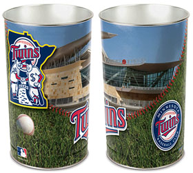 "Minnesota Twins 15"" Waste Basket"
