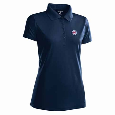 Minnesota Twins Womens Pique Xtra Lite Polo Shirt (Alternate Color: Navy)
