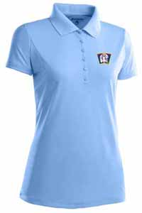 Minnesota Twins Womens Pique Xtra Lite Polo Shirt (Cooperstown) (Color: Aqua) - Small