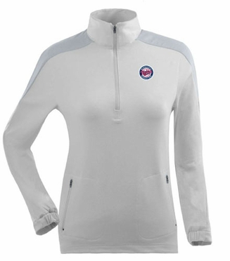 Minnesota Twins Womens Succeed 1/4 Zip Performance Pullover (Color: White)