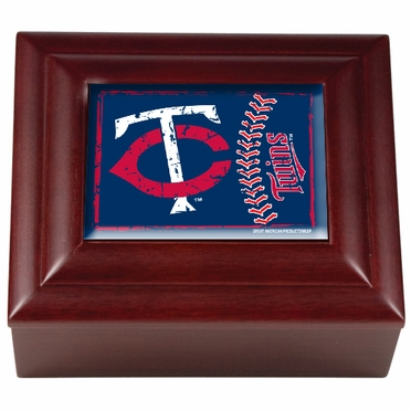 Minnesota Twins Wooden Keepsake Box
