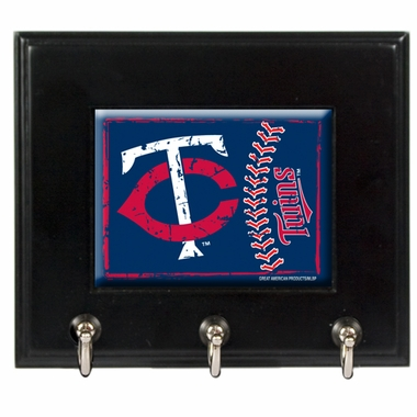 Minnesota Twins Wooden Keyhook Rack