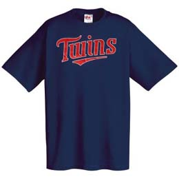 Minnesota Twins Wordmark T-Shirt - Medium
