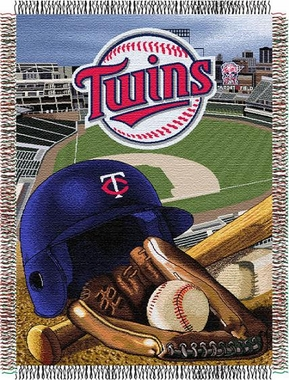 Minnesota Twins Woven Tapestry Blanket