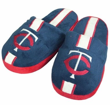 Minnesota Twins YOUTH Team Stripe Slide Slippers