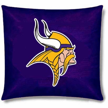 Minnesota Vikings 15 Inch Applique Pillow