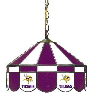 Minnesota Vikings 16 Inch Diameter Stained Glass Pub Light