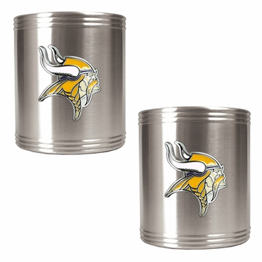 Minnesota Vikings 2 Can Holder Set