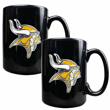 Minnesota Vikings 2 Piece Coffee Mug Set
