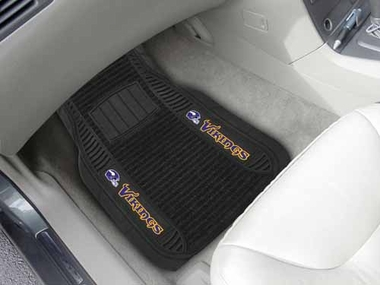 Minnesota Vikings 2 Piece Heavy Duty DELUXE Vinyl Car Mats