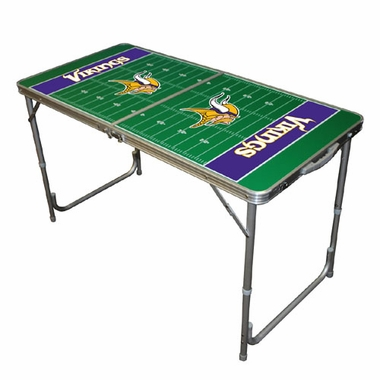 Minnesota Vikings 2 x 4 Foot Tailgate Table