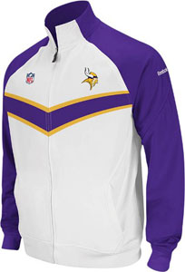Minnesota Vikings 2011 Sideline Full Zip Travel Jacket - Large