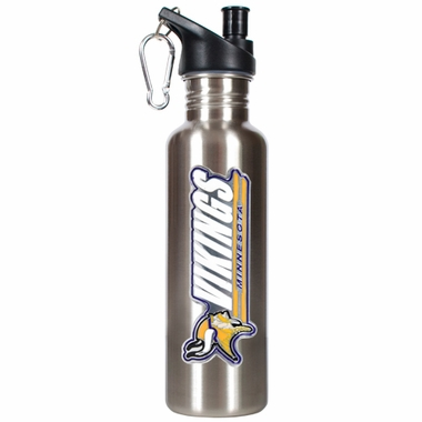 Minnesota Vikings 26oz Stainless Steel Water Bottle (Silver)