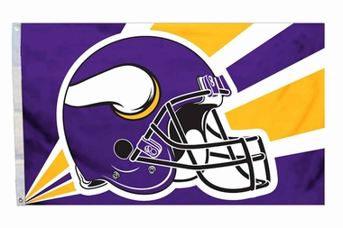 Minnesota Vikings 3'x5' Helmet Design Flag