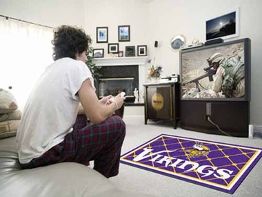 Minnesota Vikings 4 Foot x 6 Foot Rug