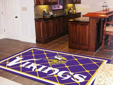 Minnesota Vikings 5 Foot x 8 Foot Rug