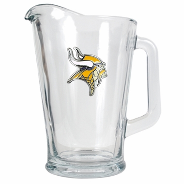 Minnesota Vikings 60 oz Glass Pitcher
