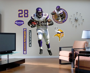 Minnesota Vikings Adrian Peterson Fathead Wall Graphic